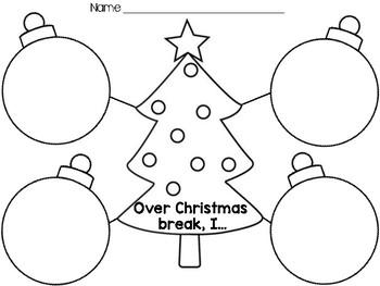 Over Christmas Break Graphic Organizer