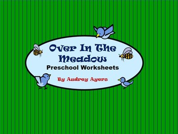Over In The Meadow Preschool Worksheets, Counting, Colors, Tracing, Animals