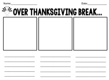 Over Thanksgiving Break... {worksheet}