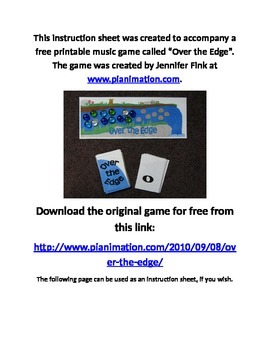 Over The Edge Insructions (Rhythm Duration Game)