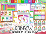 Over The Rainbow Classroom Decor / Posters / Pack