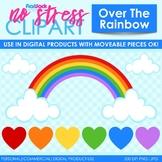 Over The Rainbow Clip Art (Digital Use Ok!)