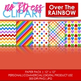 Over The Rainbow Digital Papers