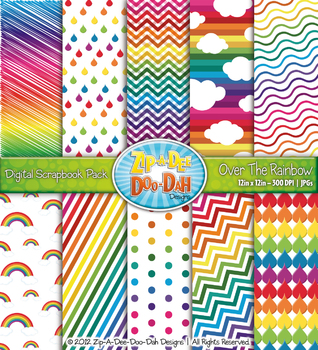 Over The Rainbow Digital Scrapbook {Zip-A-Dee-Doo-Dah Designs}