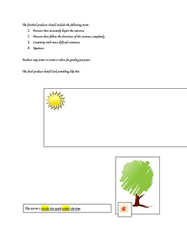 Over, Under, Around and About Apples Preposition Activity (Common Core)
