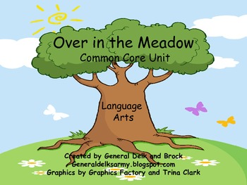 Over in the Meadow Literacy Activities