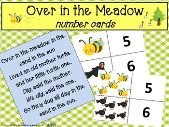 Over in the Meadow Number Cards, Music and Movement Activity, Circle Time