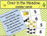 Over in the Meadow Number Cards, Music and Movement Activi