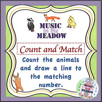 Over in the Meadow on the First Day of School Count and Match