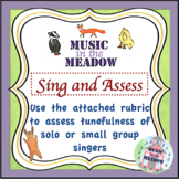 Over in the Meadow on the First Day of School Sing and Assess