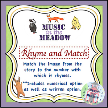 Over in the Meadow on the First Day of School Rhyme and Match