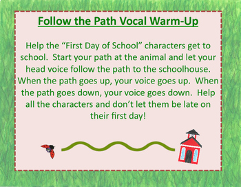 Over in the Meadow on the First Day of School Voice Path Vocal Warm-up
