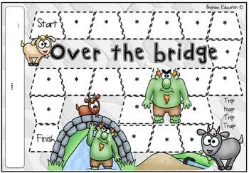 Over the Bridge Blank Board Game (EDITABLE)