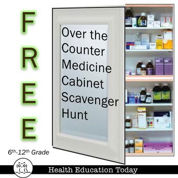 "OTC ""Over the Counter"" Medicine Cabinet Scavenger Hunt Lesson FREE!"