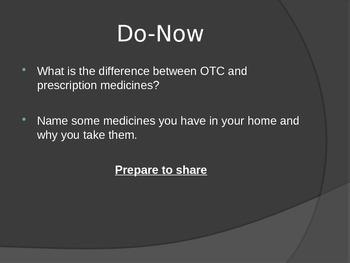 Over the Counter and Prescription Medicine