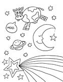 Over the Moon Coloring Page