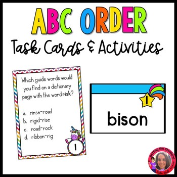 Over the Rainbow- ABC order and Dictinary Skills
