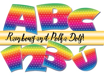 "Over the Rainbow Alphabet  /  98 pcs - 3.5"" High, Vector PDF and PNGs"