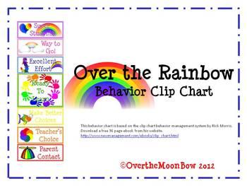 Over the Rainbow Behavior Clip Chart