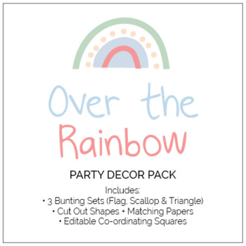 Over the Rainbow Classroom Decor and Party Pack