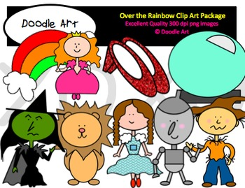 Over the Rainbow Clipart Pack