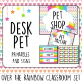 Over the Rainbow. Desk Pet Signs and labels.