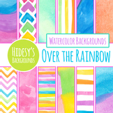 Over the Rainbow Digital Papers / Background / Patterns / Clipart Commercial Use