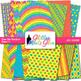 Rainbow Bold Scrapbook Paper Backgrounds {Glitter Meets Glue}