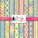 Rainbow Pastel Paper {Scrapbook Backgrounds for Task Cards