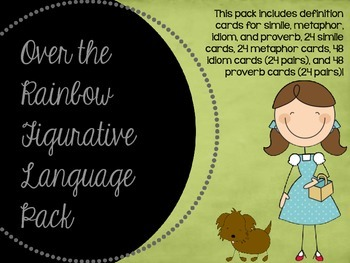 Over the Rainbow Figurative Language Pack