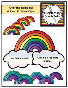 Over the Rainbow! - Rainbow Graphics -- Rainbow Clipart