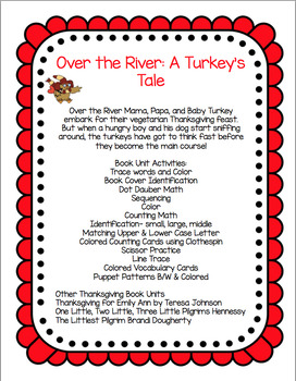 Over the River:  A Turkey Tale Book Unit