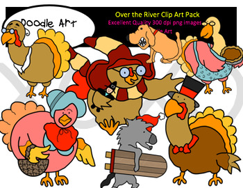 Over the River Clipart Pack