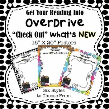 """OverDrive Digital Library:  """"Check Out What's New"""" 16"""" X 20"""" Posters"""