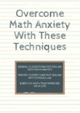 Overcome Math Anxiety With These Techniques