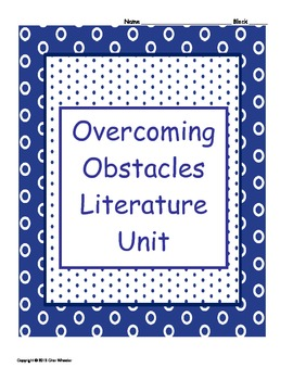 Overcoming Obstacles Literature Unit
