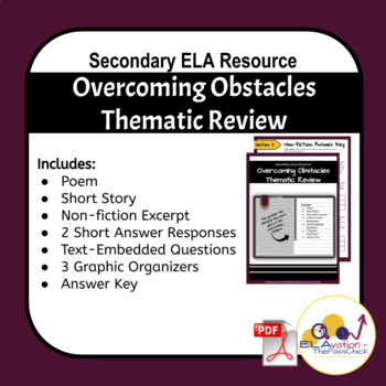 Overcoming Obstacles: Thematic Unit Skills Review (7th-9th Grade)