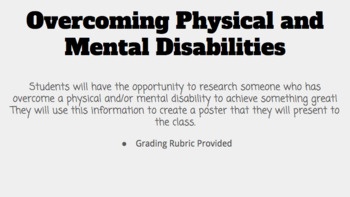 Overcoming Physical and Mental Disabilities