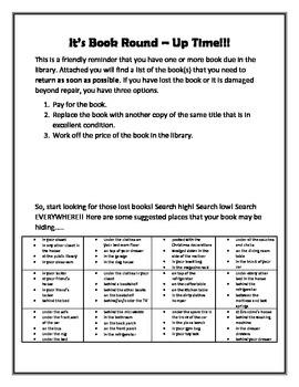 Overdue Book Challenge