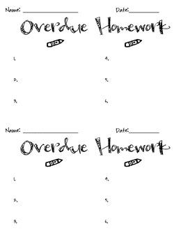 Overdue Homework