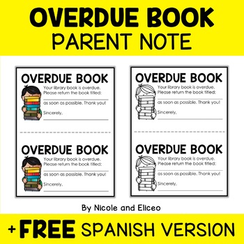 Parent Note - Overdue Library Book Reminder