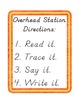 Overhead Station: Sight Word and D'Nealean Handwriting Pra