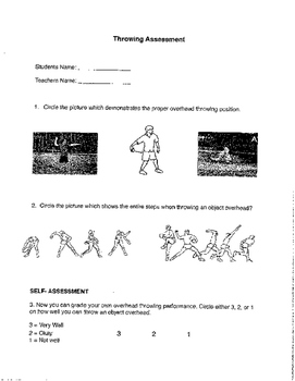 Overhead Throwing Assessment