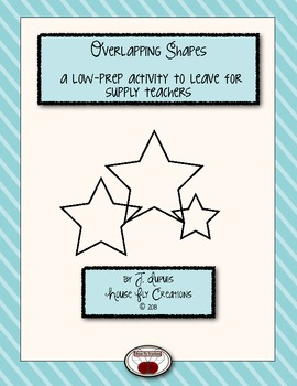 Overlapping Shapes - A no fuss art activity to leave for your supply teacher