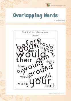 Overlapping Words (2nd Grade)