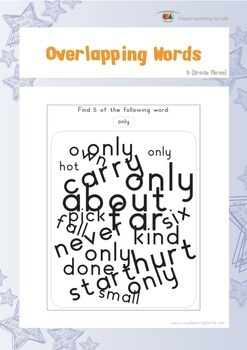 Overlapping Words (3rd Grade)