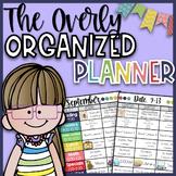 Overly Organized Teacher Lesson Planner| Lesson Plan Template Editable| 21-22