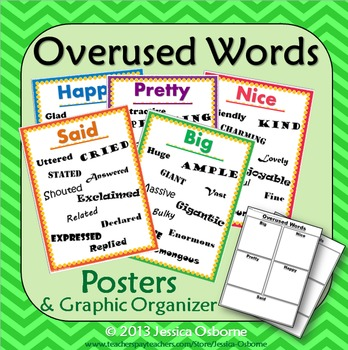 Overused Words Posters