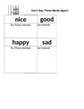 Overused Words- Nice, Good, Happy, Sad