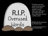 """Overused Words Rest in Peace"" Bulletin Board Kit"